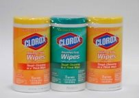 Clorox canisters- clear film